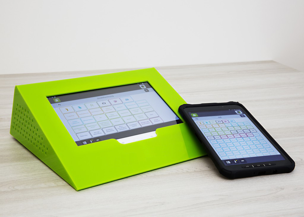 OrderBox Tabletpult Grün